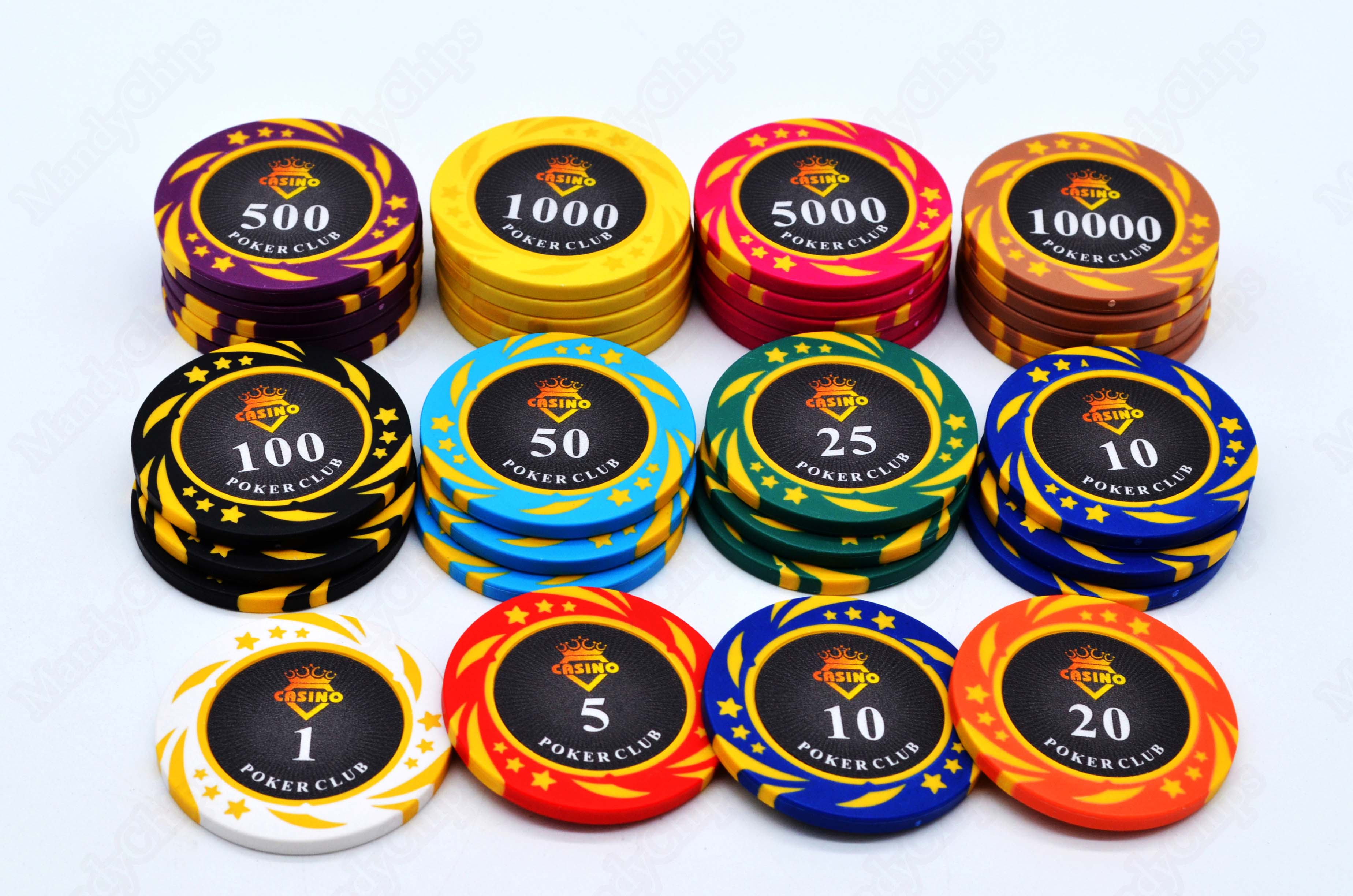 Clay Tournament Poker Chips