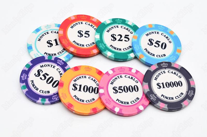 Monte Carlo Tournament Poker Chips