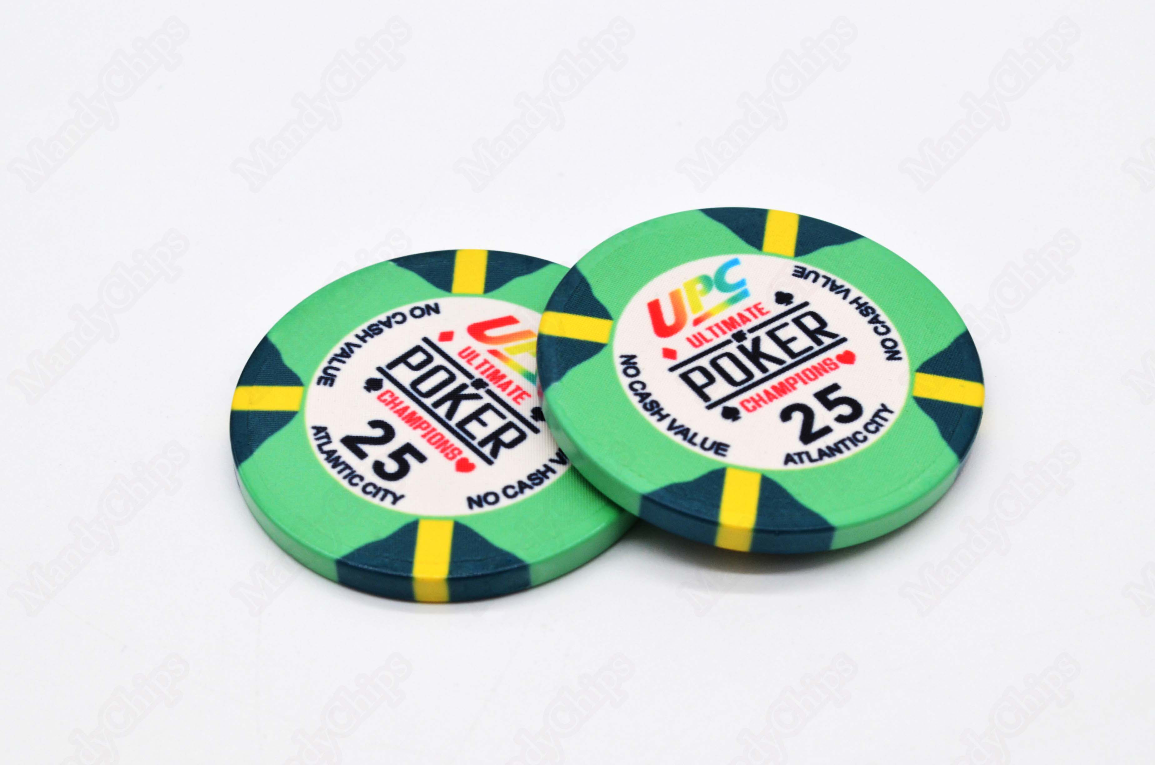 numbered poker chips