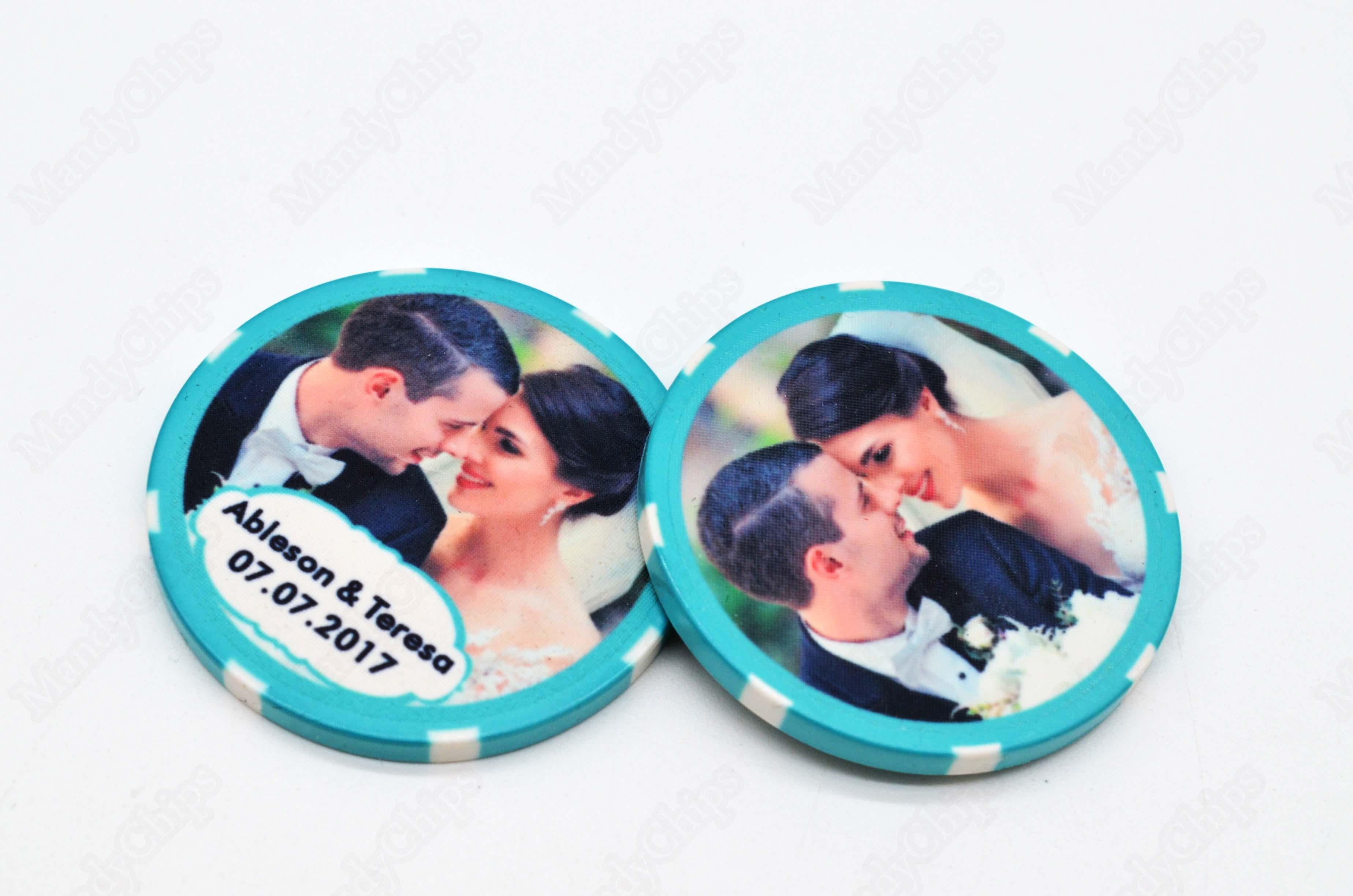 Poker Chip Wedding Favors